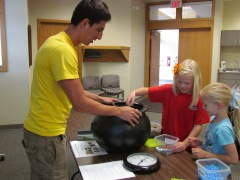 Adding nutrients to the mix at the Sumner Public Library on June 5, 2013.