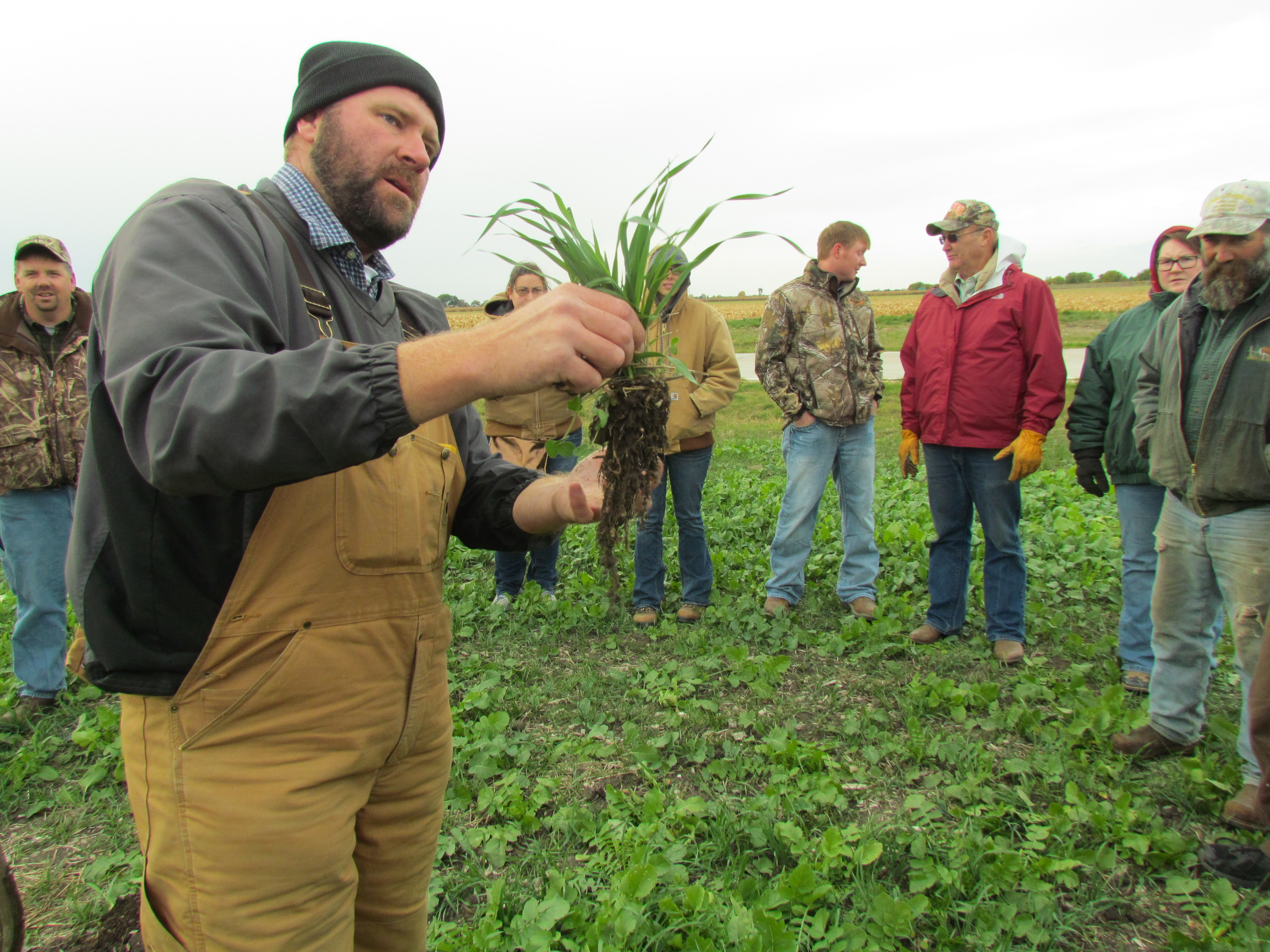 Great turnout for des moines county cover crop field day for Soil scientist