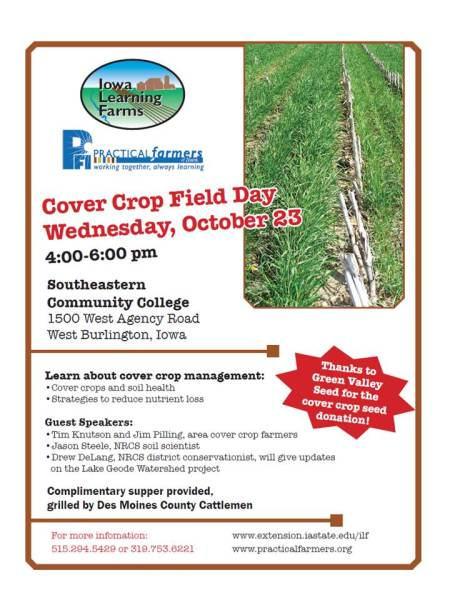 SCC Cover Crop Field Day
