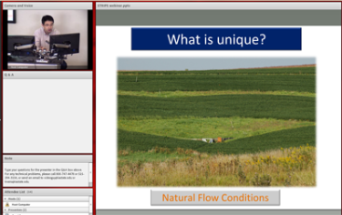 Matt Helmers presents a webinar on a research project using prairie strips interspersed with row crops.