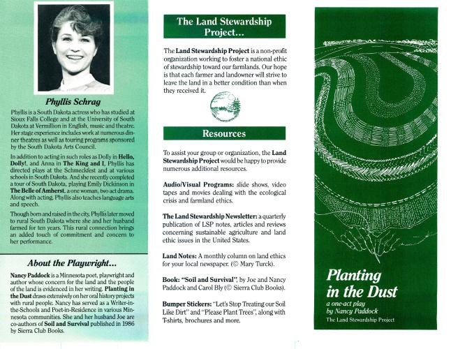 Land Stewardship Project Program Tri-fold 1