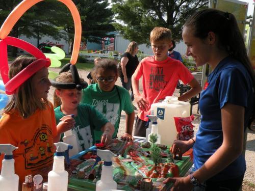 Teaching the Enviroscape at the Dallas County Fair!