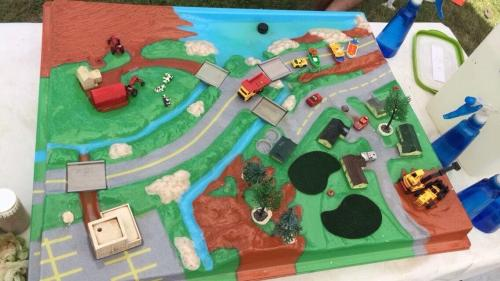 The Enviroscape watershed model, clean and ready for teaching.