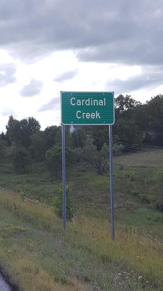 cardinal creek_ new Sign