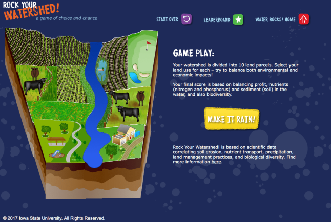 new rock your watershed game screen shot