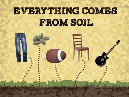 everything comes from soil