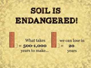 soil is endangered