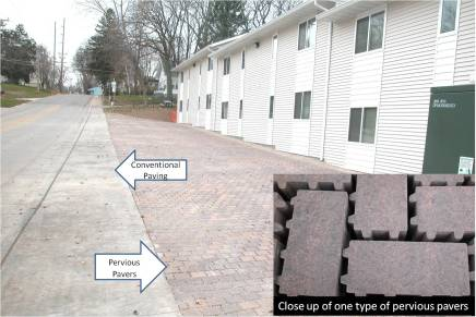 Permeable Pavement. Photo Credit: Dickinson County Clean Water Alliance